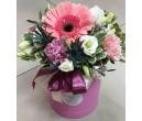 Шляпная коробка с цветами №32