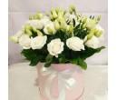Шляпная коробка с цветами №23
