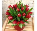 Шляпная коробка с цветами №07