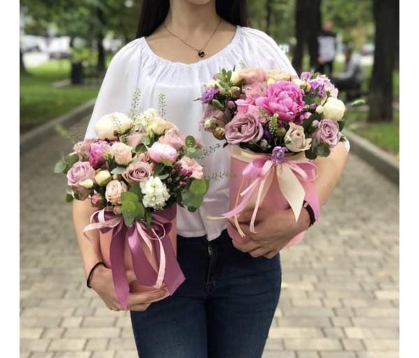 Шляпная коробка с цветами №11