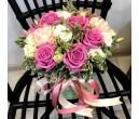 Шляпная коробка с цветами №26