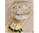 Коробка с цветами и шаром №15