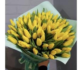 101 желтый тюльпан.