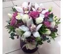 Шляпная коробка с цветами №34