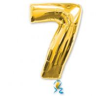Шарик цифра 7 Золотая (90см)