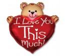 Мишка с сердцем 80 см