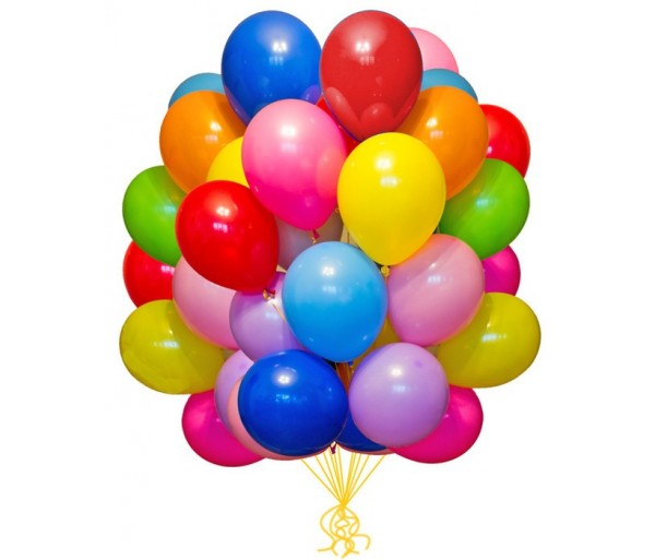 Воздушные шарики ассорти 100шт