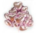 Сердце розовое металлик (1шт.)