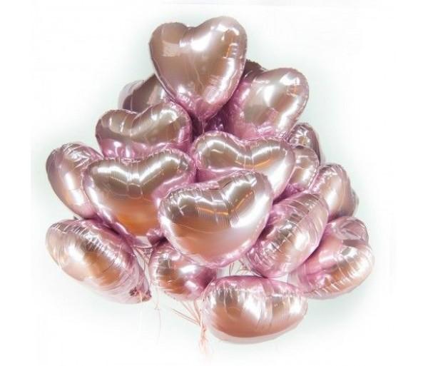Сердце розовое золото 10 шт.