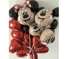 Сердца от Микки и Минни Маус.