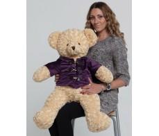 Абрикосовый медведь Дилан 80см