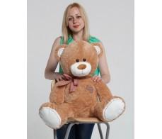 Коричневый плюшевый медведь Сэм 80см.